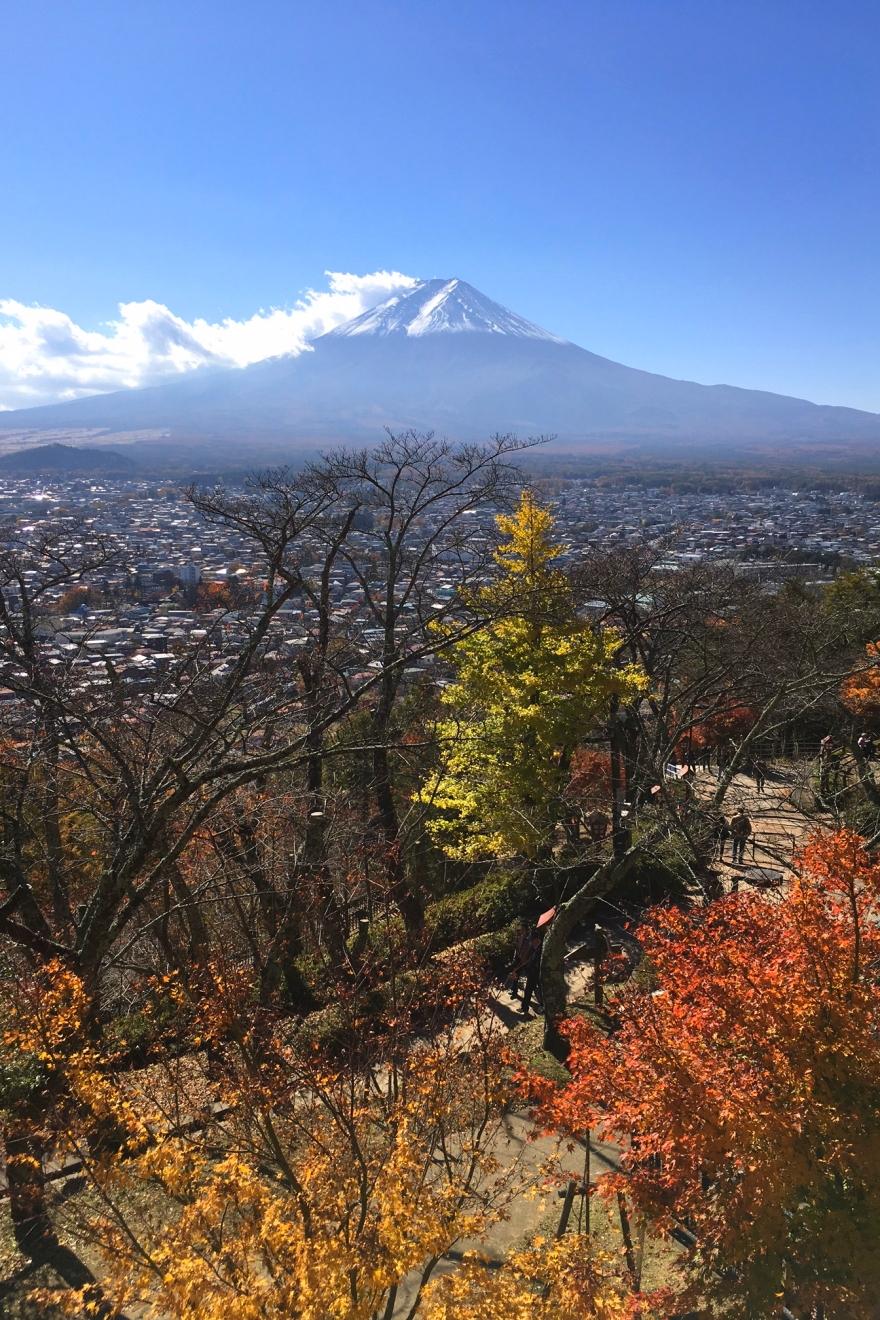 忠霊塔裏の展望台から見た富士山