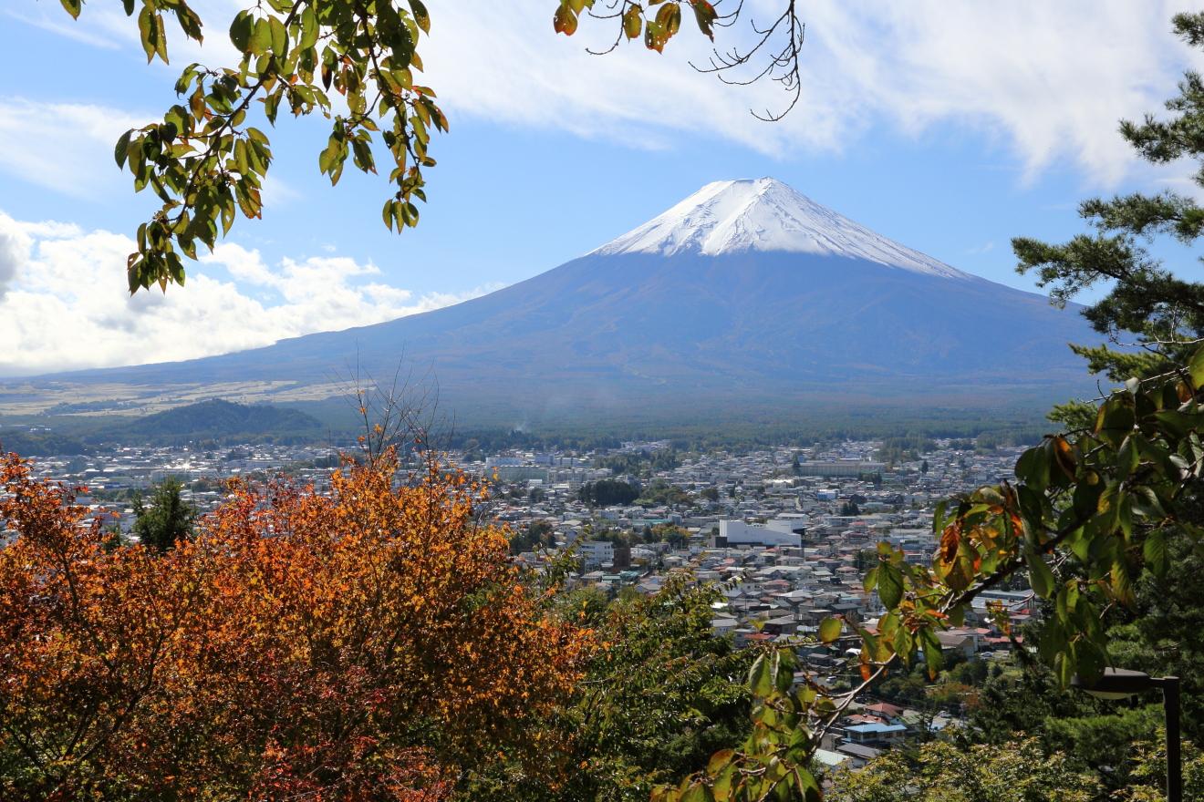 咲くや姫階段からの富士山