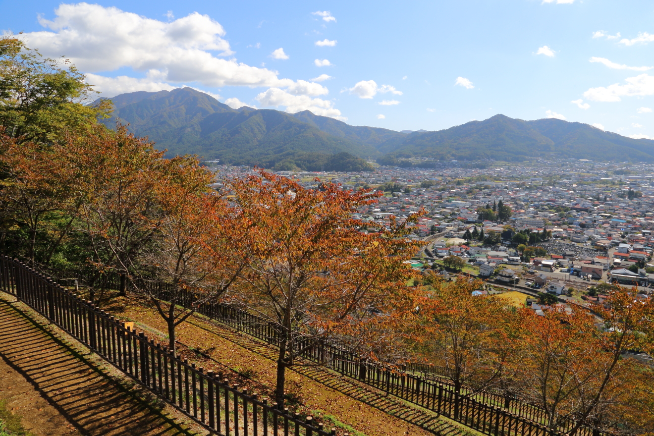 忠霊塔の桜の紅葉