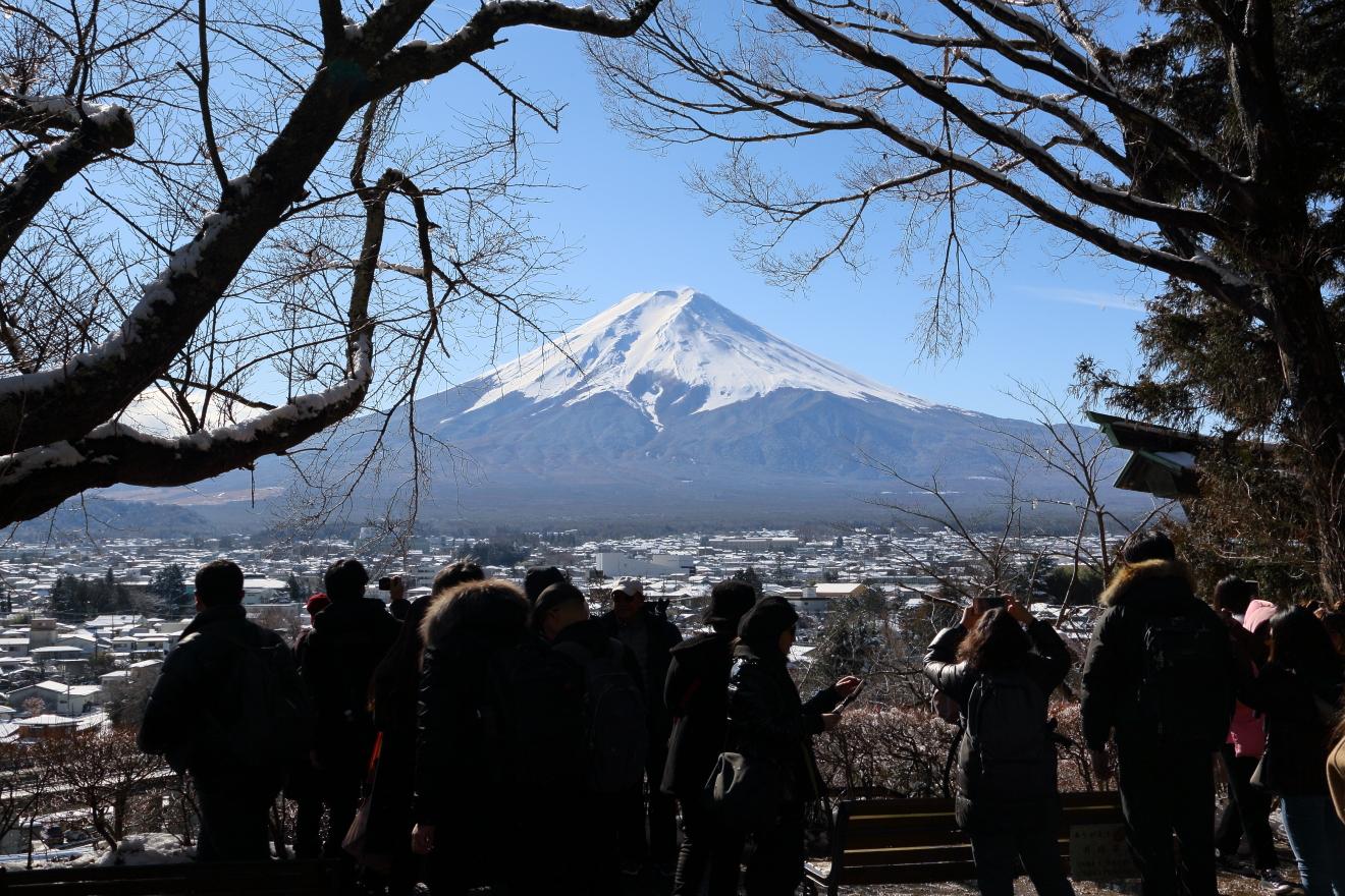 塩釜神社からの富士山