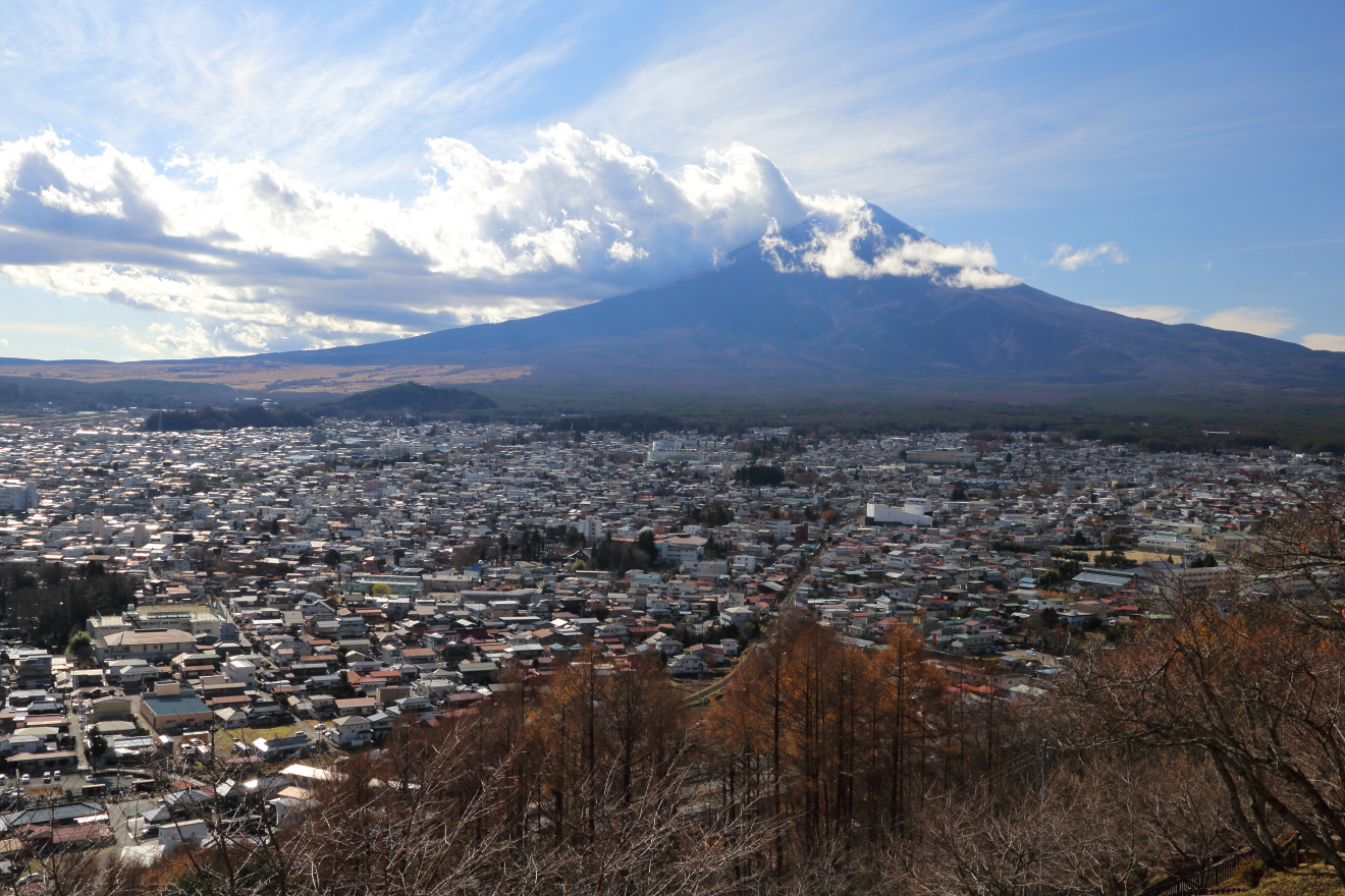 新倉山浅間公園:富士山